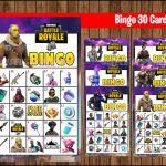 Fortnite Bingo Game 30 Cards Instant Download, Printable Fortnite Party  Game, Fortnite Bingo Game