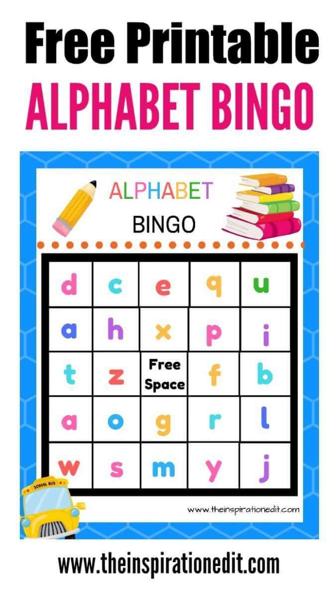 Free Alphabet Bingo Printable For Kids | Alphabet For Kids