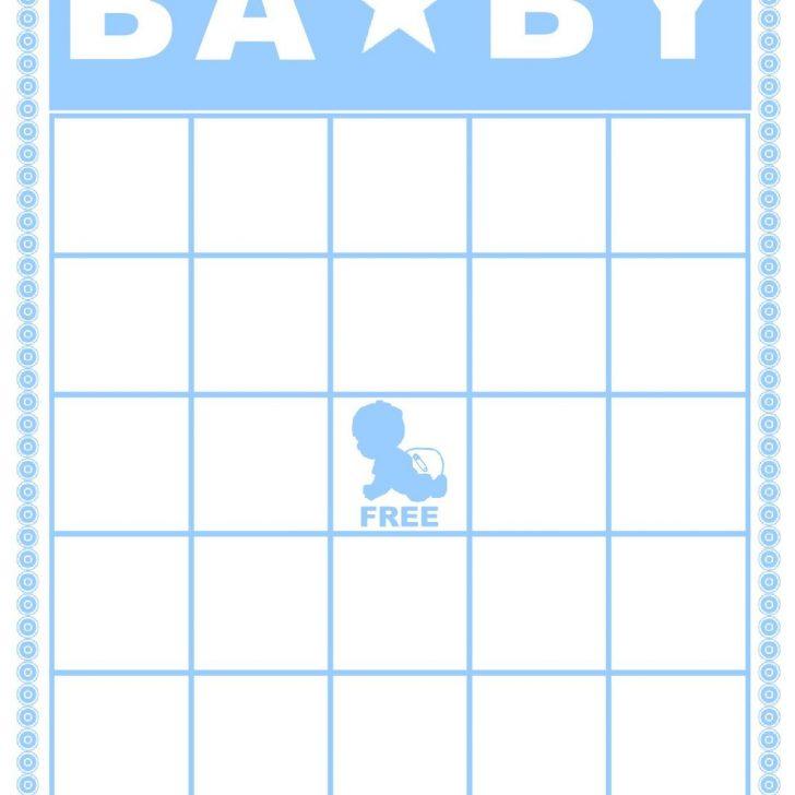 Baby Shower Bingo Free Printable Blank Cards