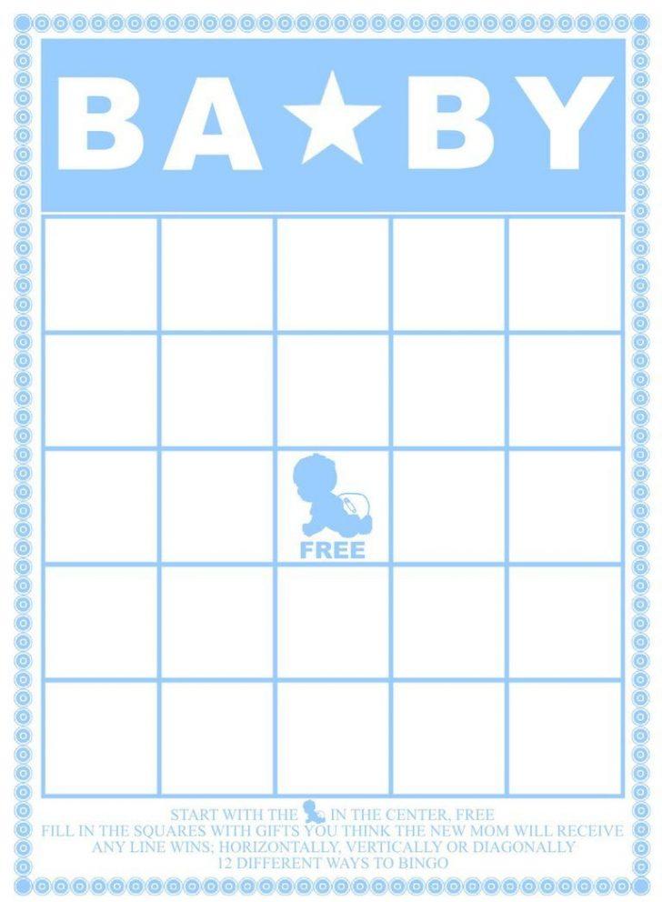 Printable Baby Shower Bingo Cards