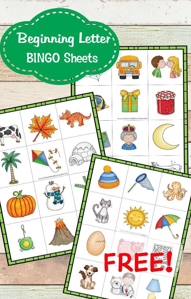 Free Beginning Sound Bingo Sheets | Letter Sound Activities