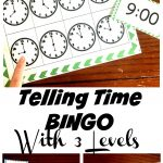 Free Bingo Game To Practice Telling Time For Kids | Telling