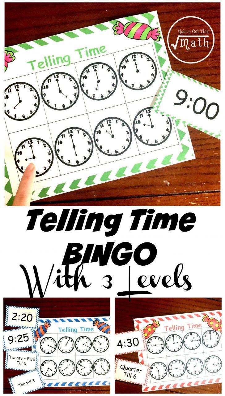 Free Printable Time Bingo Cards