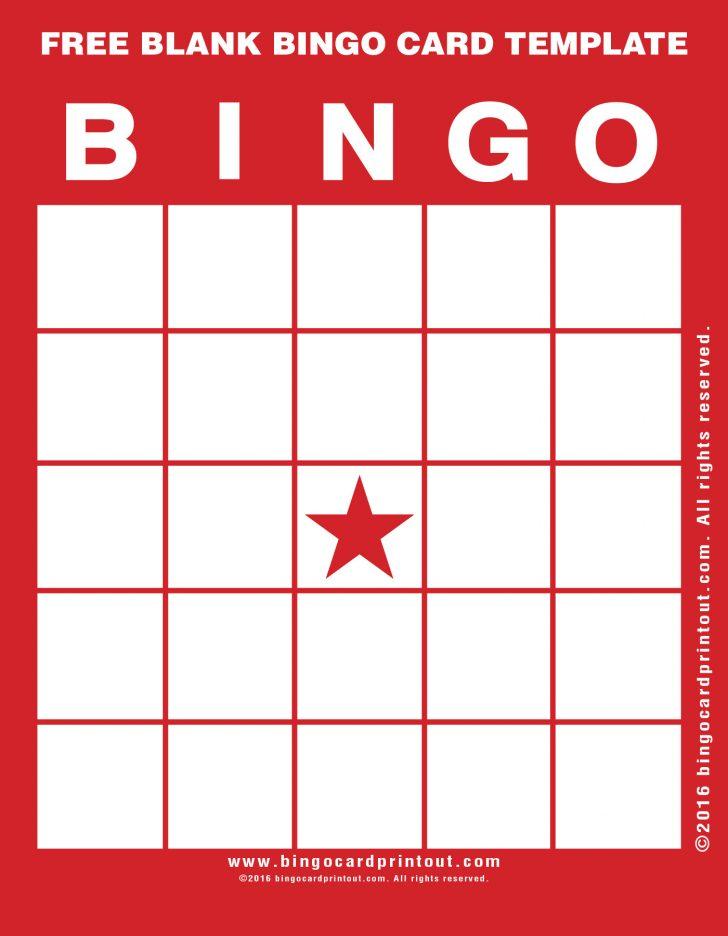 Free Blank Bingo Card Printable
