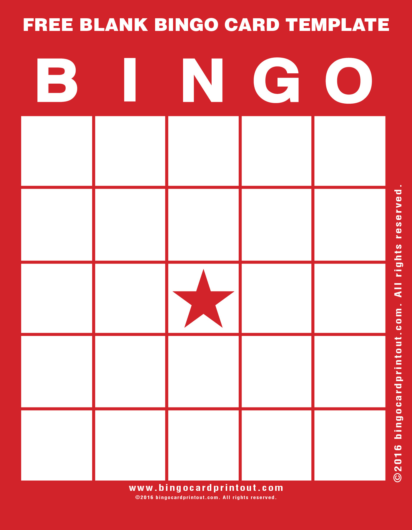 Free Blank Bingo Card Template - Bingocardprintout