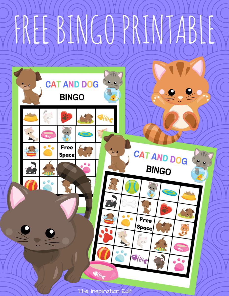 Free Cat And Dog Bingo Kids Game · The Inspiration Edit