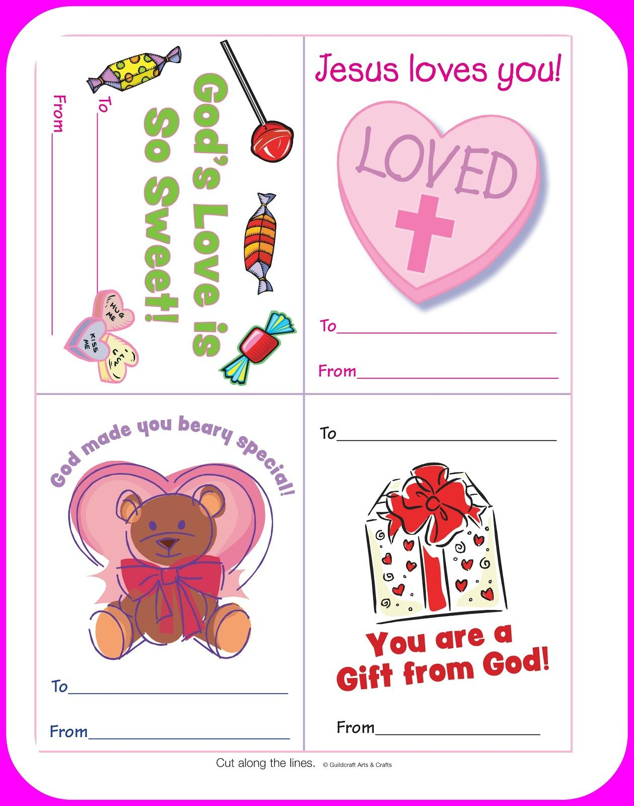 Free Christian Valentine's Printables For Kids. Courtesy Of