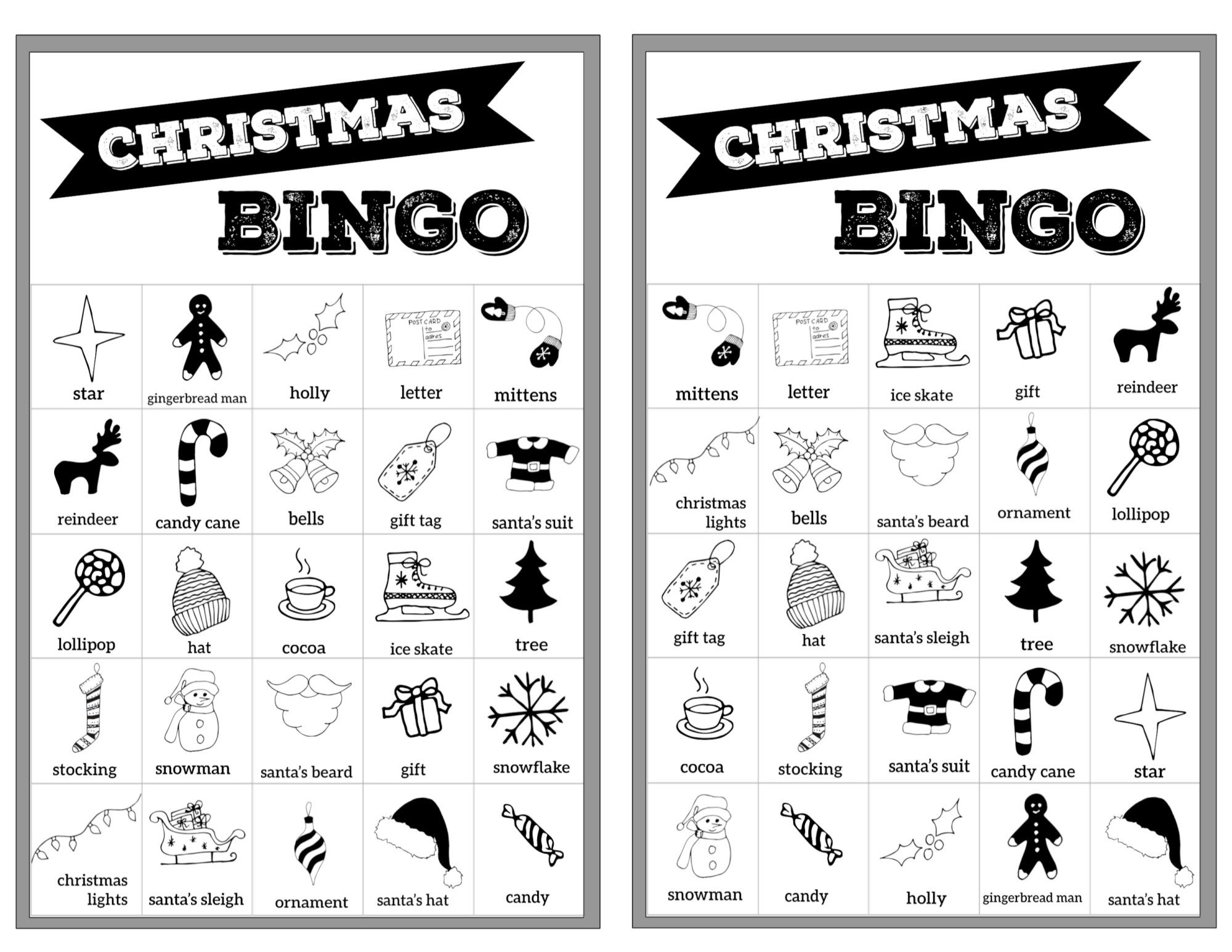 Free Christmas Bingo Printable Cards | Christmas Bingo