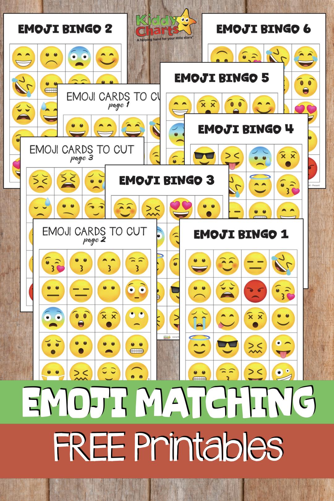 Free Emoji Bingo Game For Kids