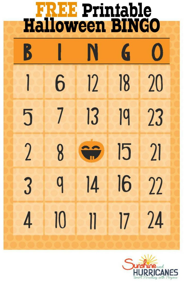 Printable Pumpkin Bingo Cards