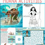 Free Moana Printables   Coloring Pages, Party Printables