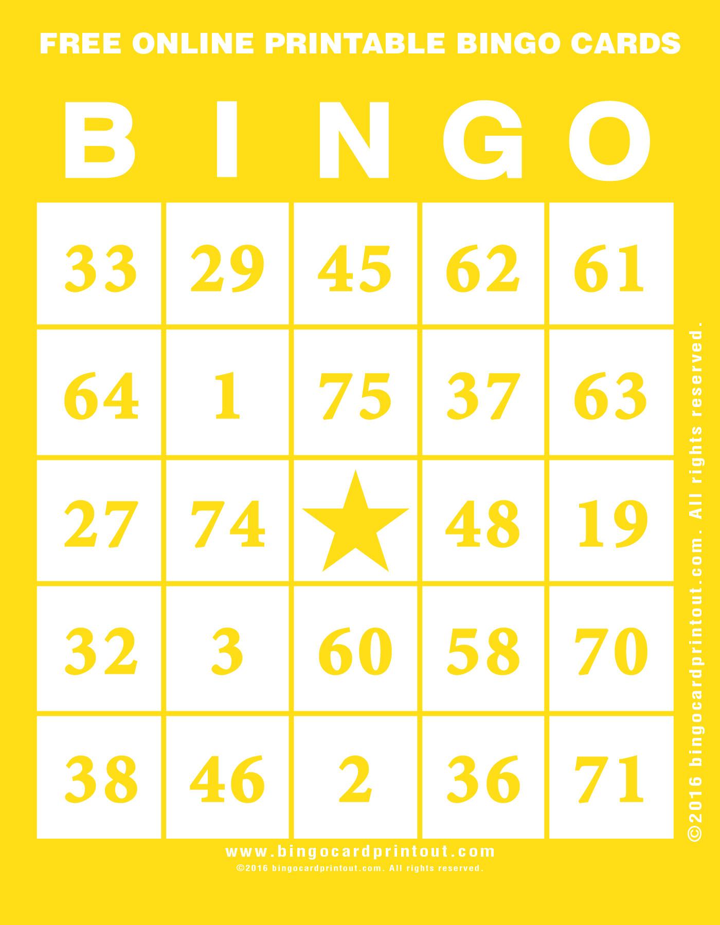 Free Online Printable Bingo Cards - Bingocardprintout