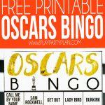 Free Printable 2020 Oscars Bingo Cards   Play Party Plan