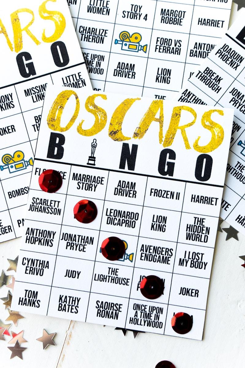 Free Printable 2020 Oscars Bingo Cards - Play Party Plan