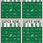 Free Printable 2020 Super Bowl Commercial Bingo   Play Party