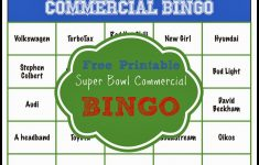 Free Printable 2020 Super Bowl Commercial Bingo – Play Party