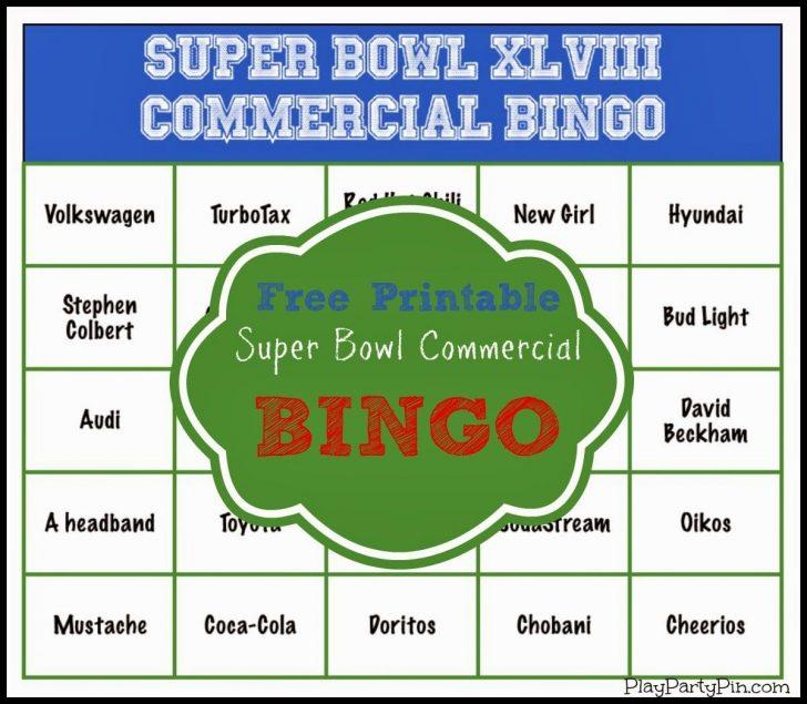 Free Printable 2015 Super Bowl Commercial Bingo Cards
