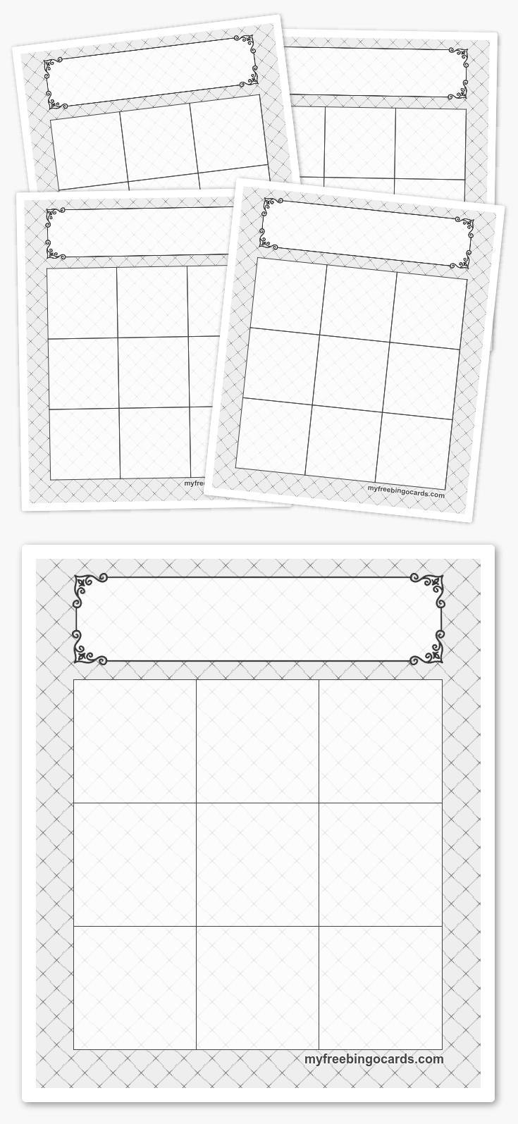 Free Printable 3X3 Bingo Templates | Feladatlapok