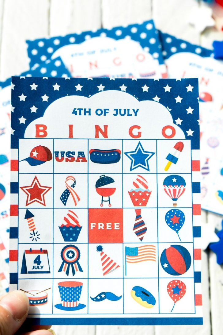 Free Printable July 4th Bingo Cards