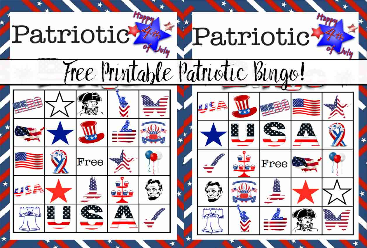 Free Printable 4Th Of July Patriotic Bingo
