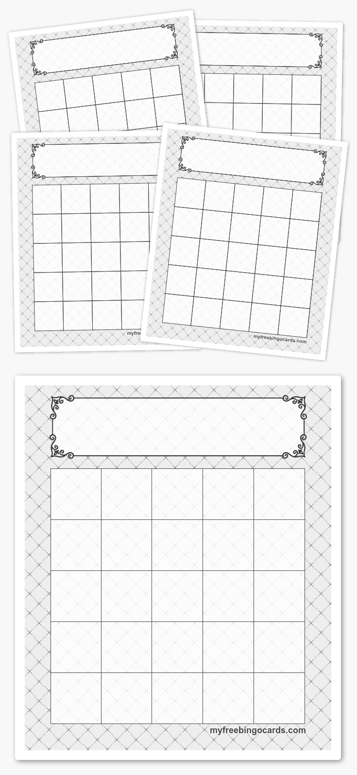 Free Printable 5X5 Bingo Templates | Feladatlapok
