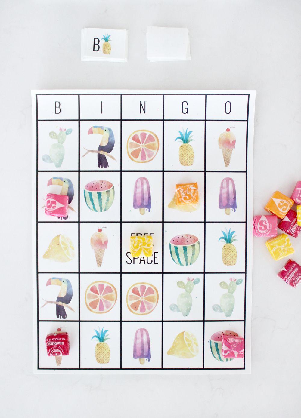 Free Printable Adorable Summer Bingo Cards   Bingo Card