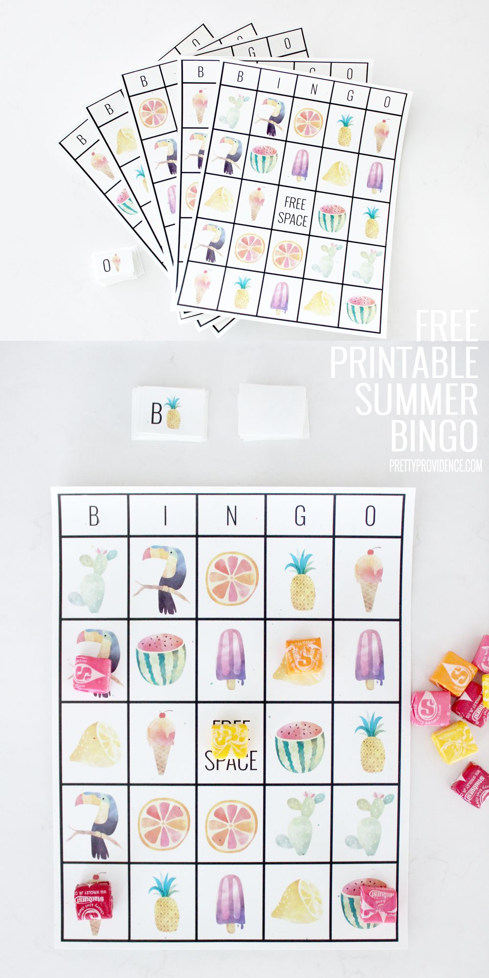 Free Printable Adorable Summer Bingo Cards | Free Printable