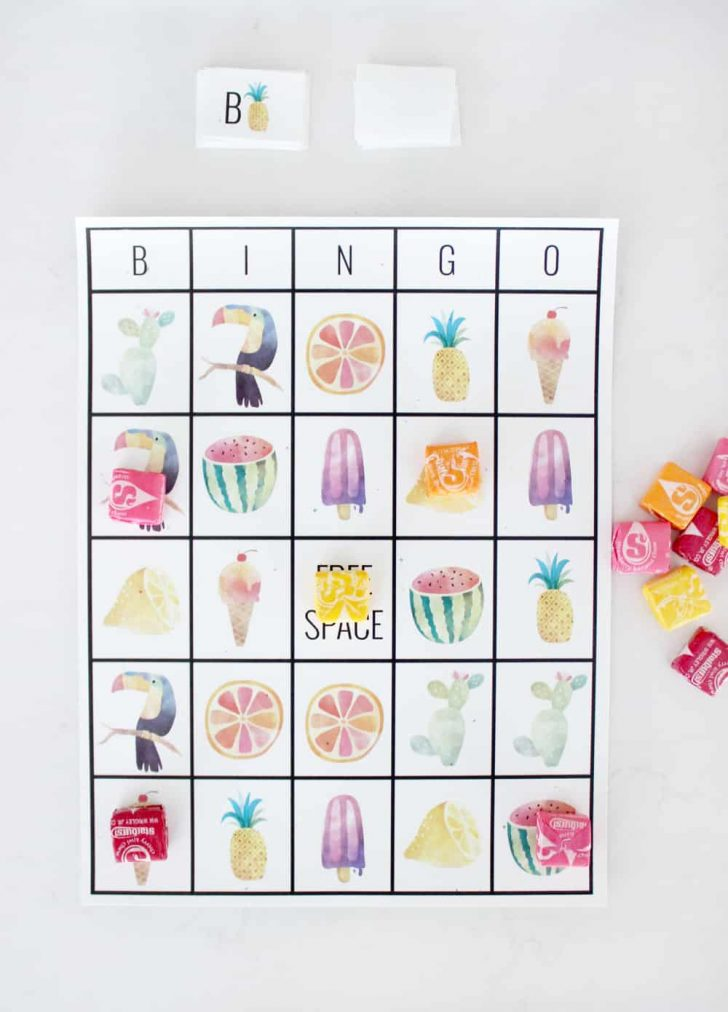 Printable Summer Bingo Cards
