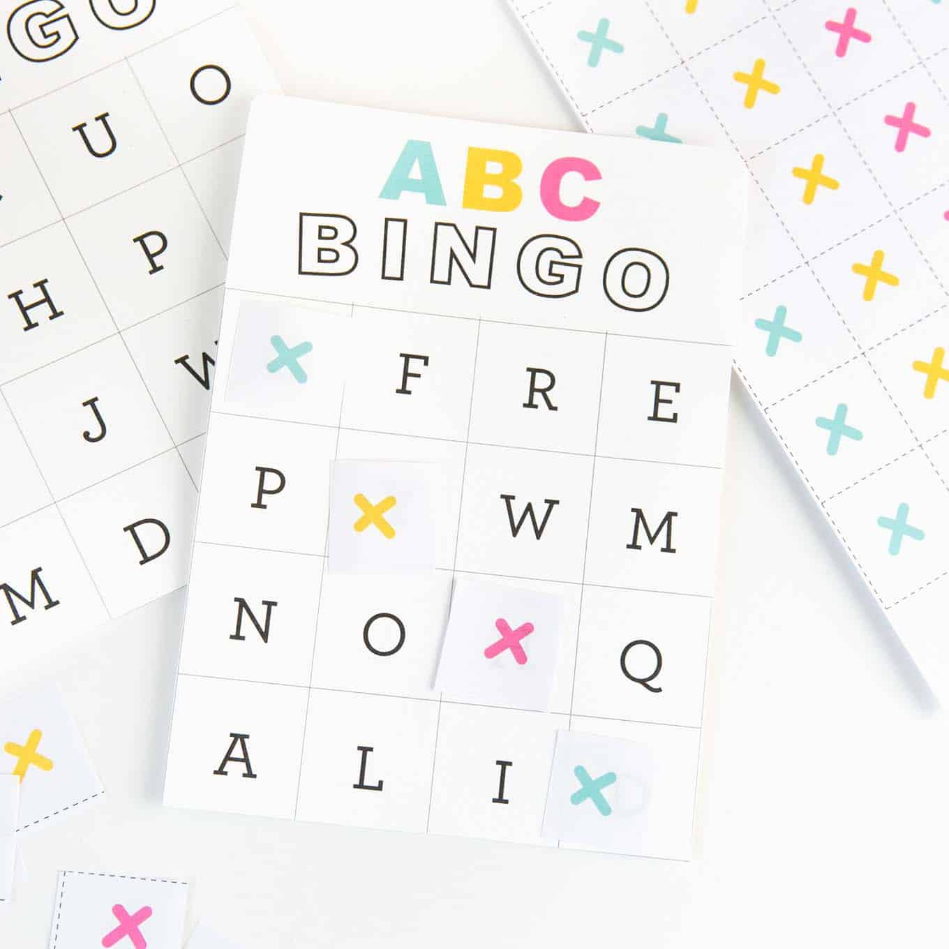 Free Printable Alphabet Bingo - Design Eat Repeat