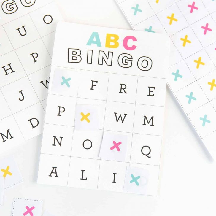 Printable Alphabet Bingo Cards