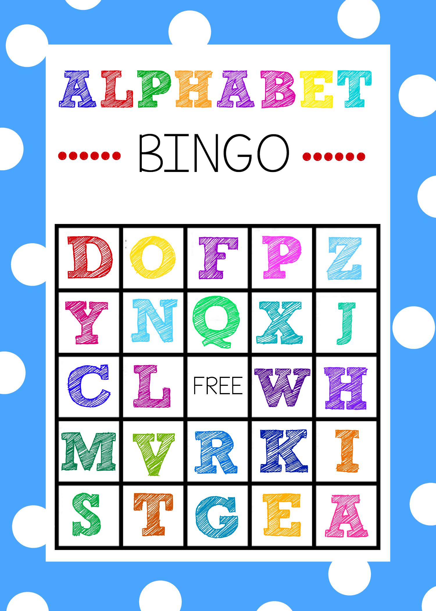 Free Printable Alphabet Bingo Game