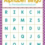 Free Printable! Alphabet Letters Bingo Game   Download Here