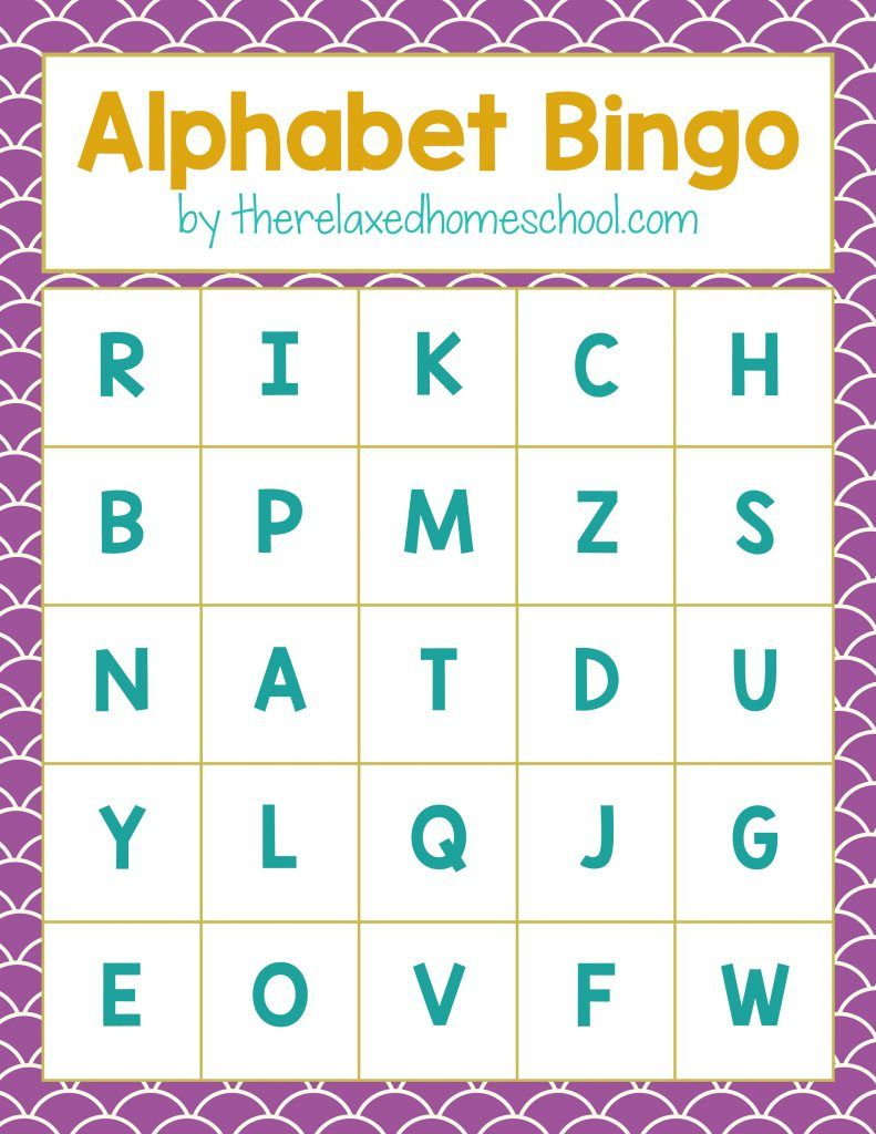Free Printable! Alphabet Letters Bingo Game - Download Here