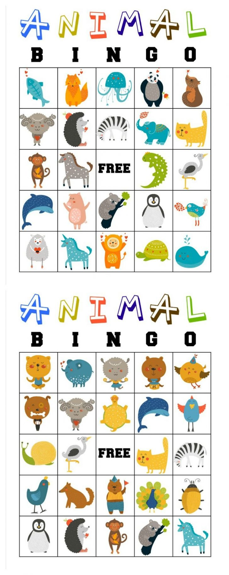 Printable Bingo Cards For Toddlers