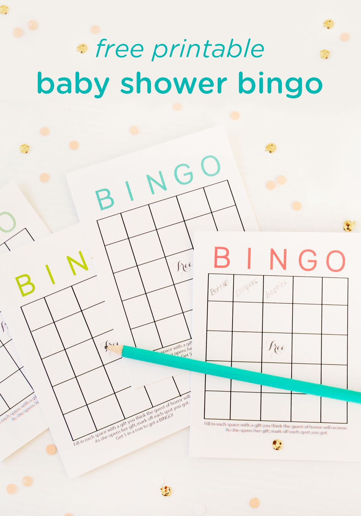 Free Printable Baby Shower Bingo Cards | Baby Shower Bingo