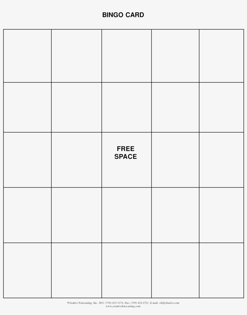 Free Printable Bingo Card - Number - 2550X3300 Png Download