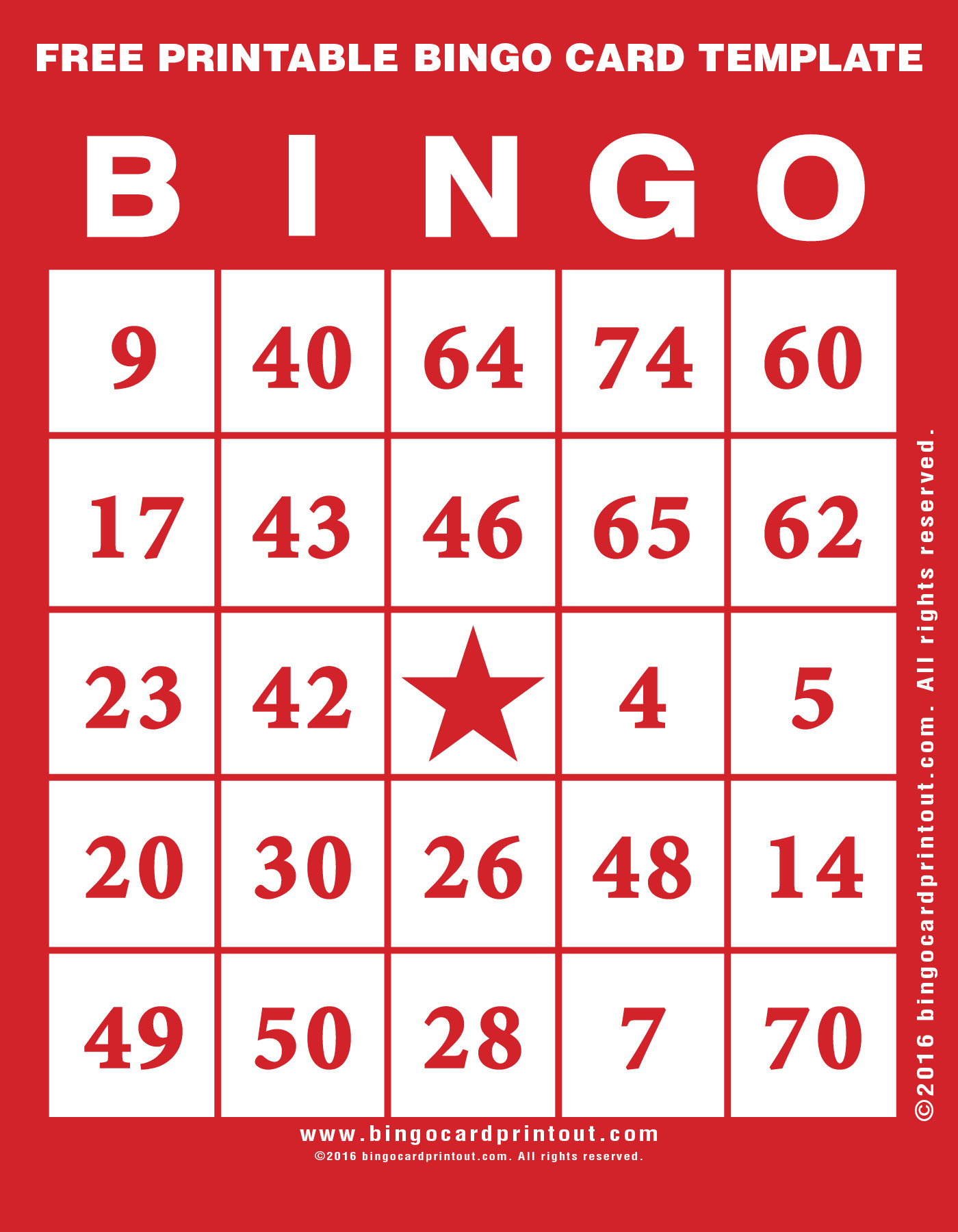 Free Printable Bingo Card Template - Bingocardprintout