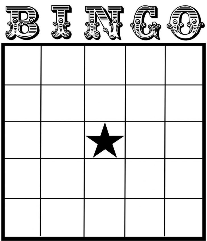 Blank Bingo Card Template Printable