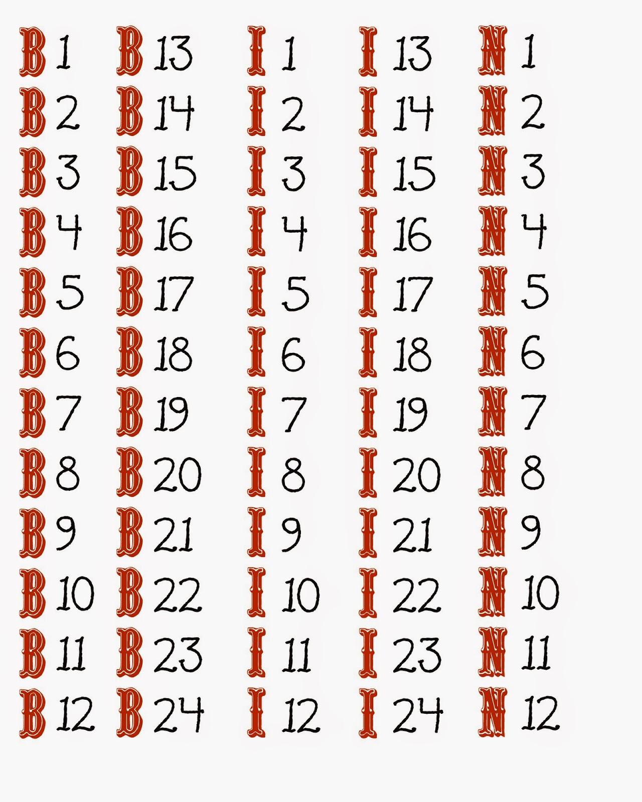 Free Printable Bingo Cards 1-75 That Are Dashing   Rodriguez