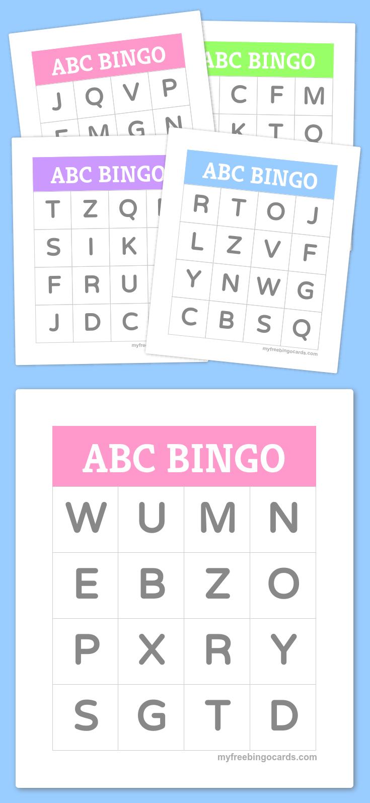 Free Printable Bingo Cards - Alfabet, Taalactiviteiten En
