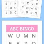 Free Printable Bingo Cards   Alfabet, Taalactiviteiten En