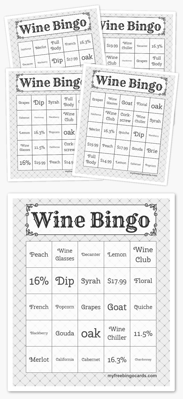 Free Printable Bingo Cards - Bingo En Hoeden