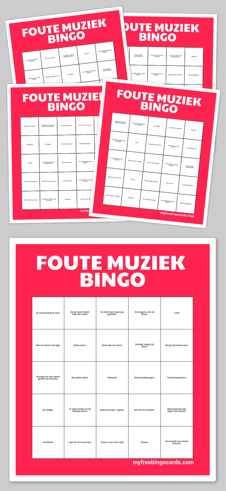 Free Printable Bingo Cards | Bingo, Kinderdienst