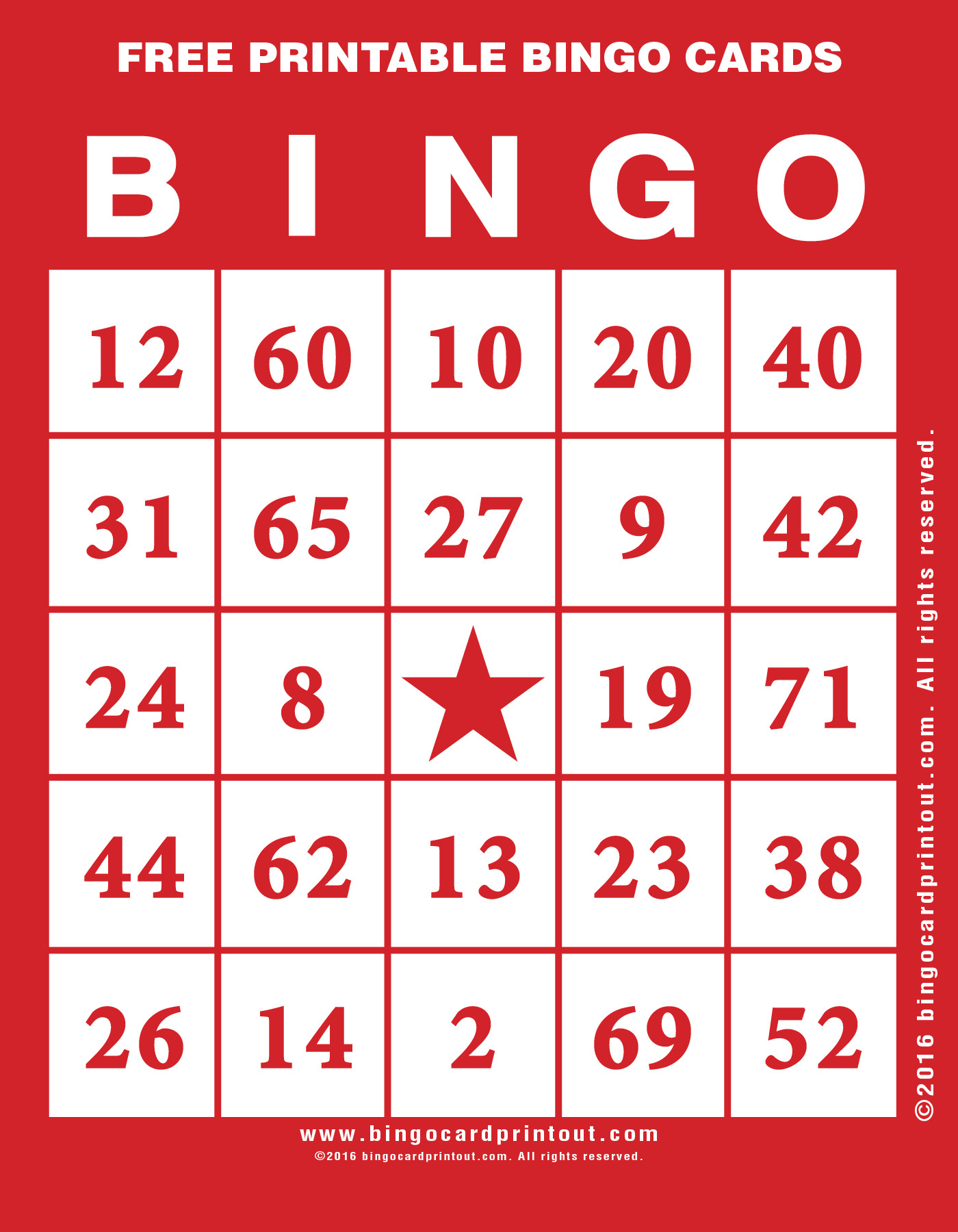 Free Printable Bingo Cards - Bingocardprintout