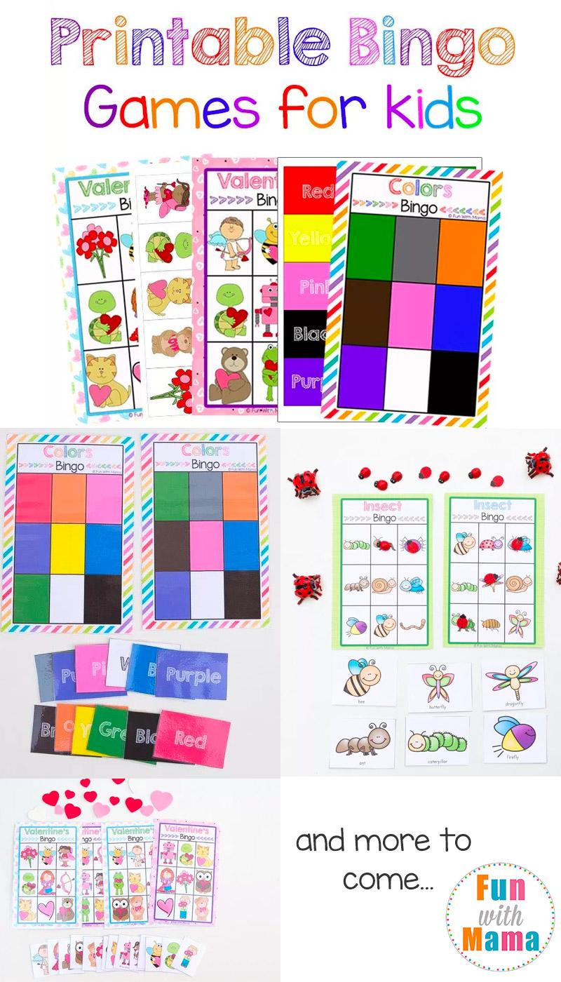 Free Printable Bingo Cards For Kids - Bingo, Spelborden En