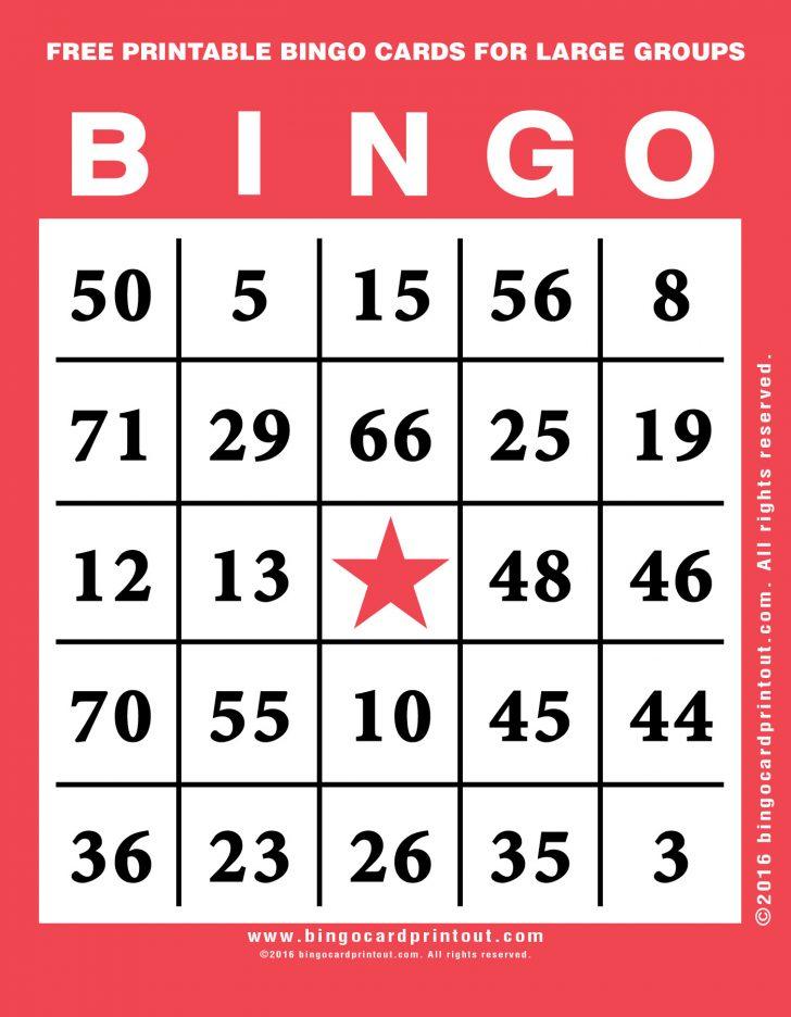 Large Free Printable Bingo Cards