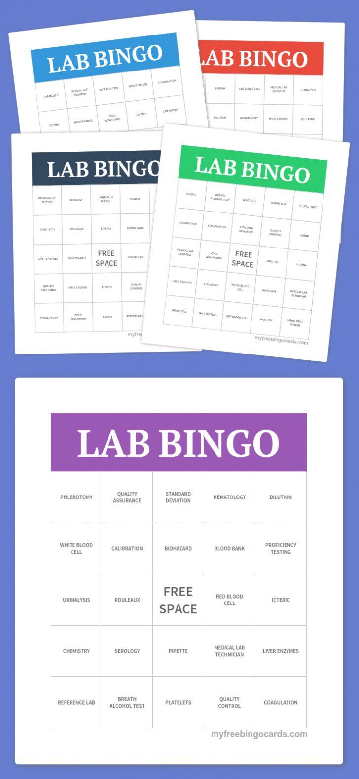 Free Printable Science Bingo Cards