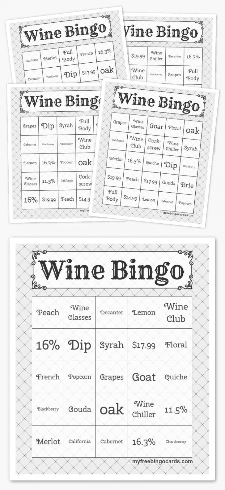 Printable Picture Bingo Cards Free