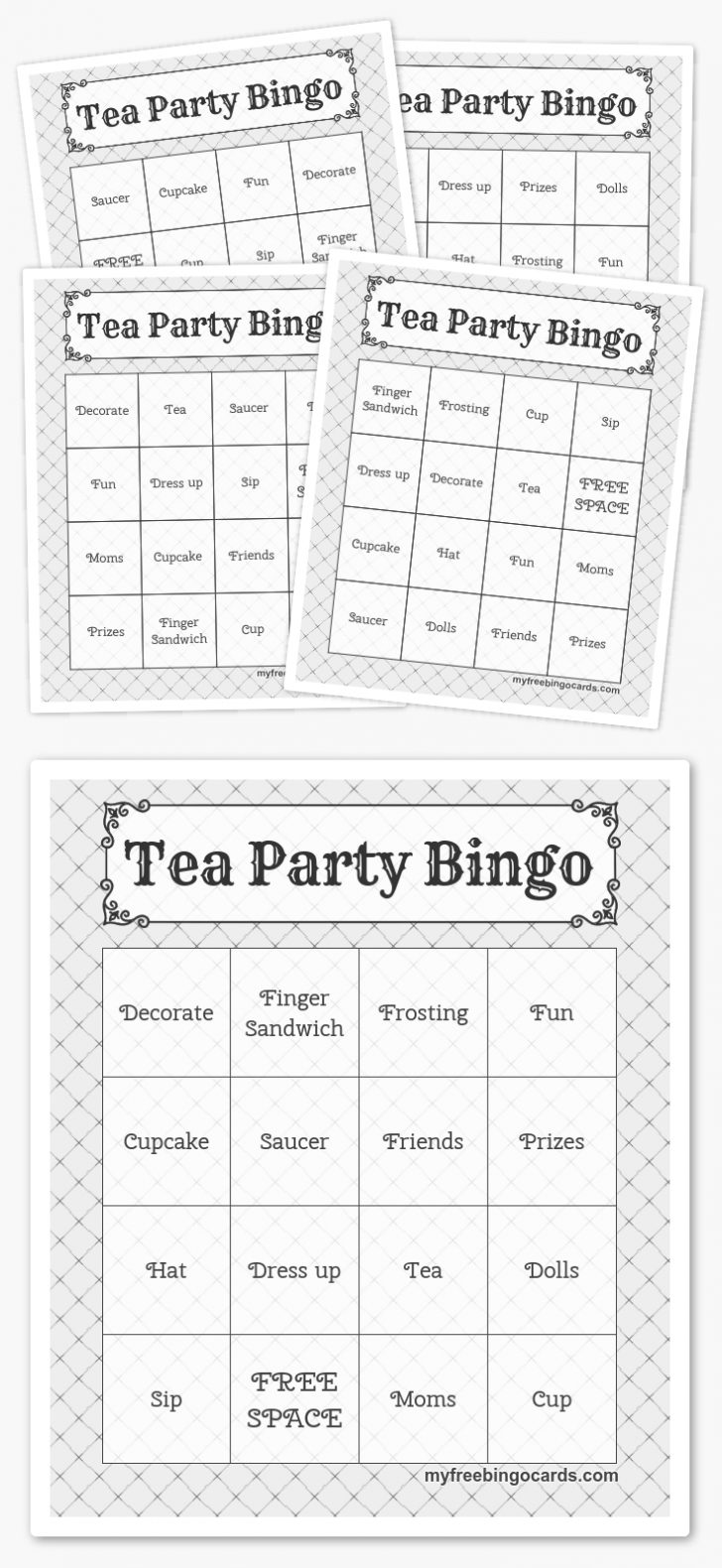 Free Printable Bingo Cards With Words