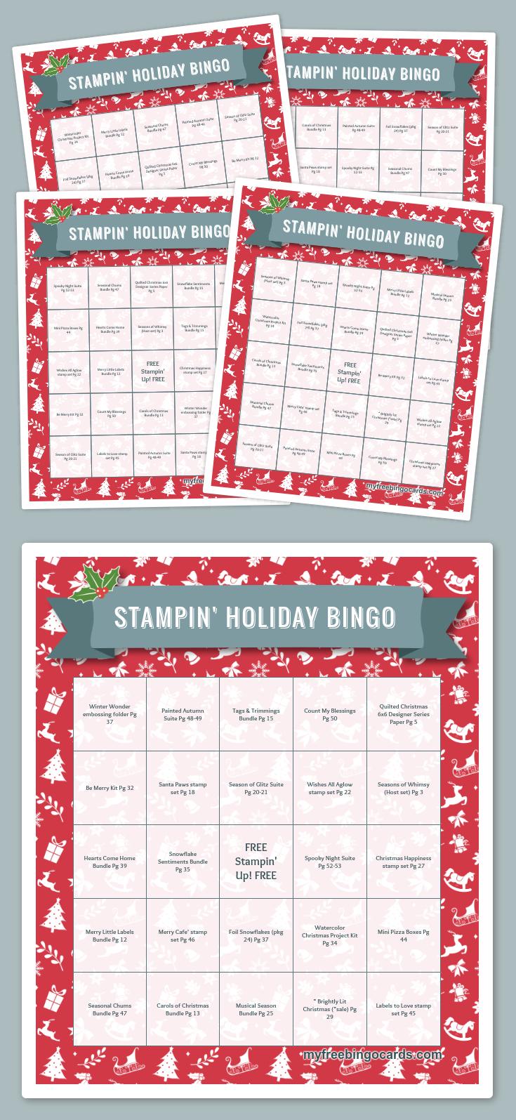 Free Printable Bingo Cards | Kerstbingo, Feestjes, Liedjes